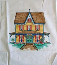 """Yellow Victorian House Quilting Crafting Sewing Pillow Panel  12.5"""" x 10... - $5.20"""