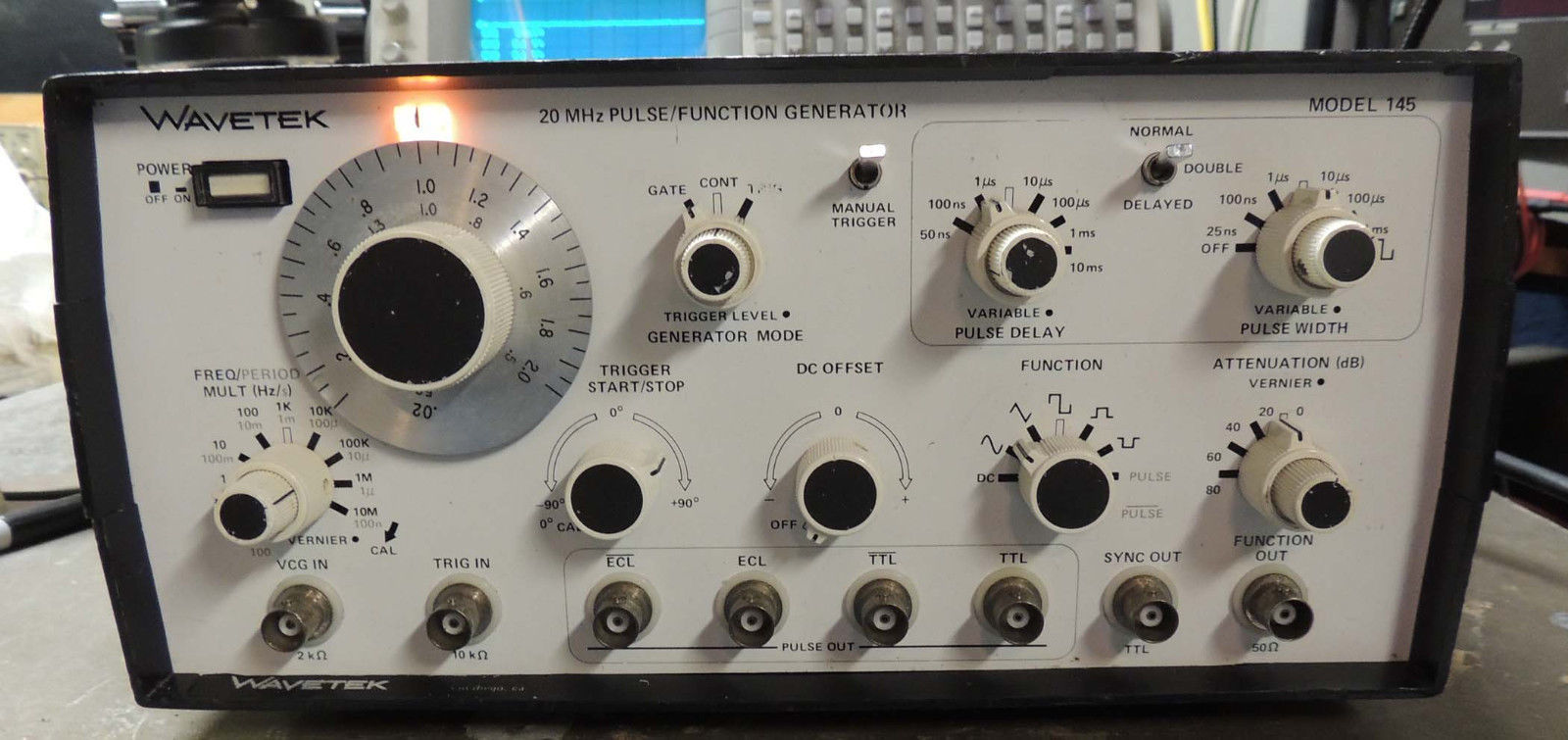 Wavetek Model 145 20mhz Pulse Function And 44 Similar Items Generator Excellent Tested Working