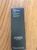KIKO Milano Full Coverage 2-IN-1 Foundation & Concealer WB30 25ml Ships ... - $38.43