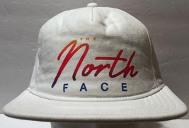NWT The North Face White Retro Look Snapback Hat Adjustable 80s 90s Neon... - $40.58