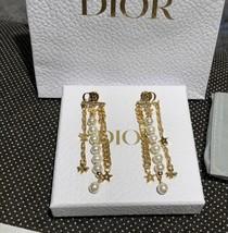 AUTH Christian Dior 2019 DANSEUSE ETOILE MULTI STRAND STAR EARRINGS PEARL GOLD image 3