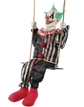 Swinging Chuckles Animated Prop Creepy Clown Halloween Decoration NEW - $139.99