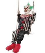 Swinging Chuckles Animated Prop Creepy Clown Halloween Decoration NEW - $139.69