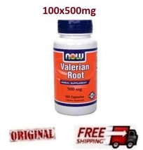 VALERIAN ROOT 500mg - Now Foods - Insomnia, Anxiety,High Blood Pressure 100 caps - $22.23