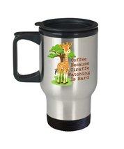 April The Giraffe Watching 14 oz Stainless Steel Travel Mug - $19.99