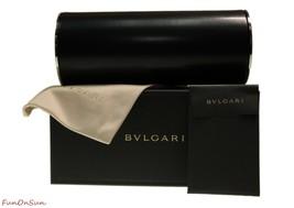 BVLGARI Women Square Sunglasses BV8199B 54128G Black Mamba/Grey Lens 55mm - $213.40