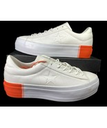 Converse One Star Platform Ox Lift Sneaker 559904C White Poppy 10 Women - $59.95