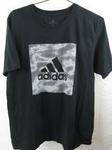 Adidas Andare Maglietta Bianco Nero 3 Righe T-Shirt Taglia L - $12.55