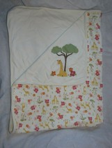 Vintage Gymboree 2008 Jungle Safari Baby Girl Blanket Giraffe Tree Flowe... - $98.98