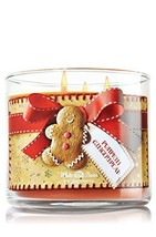 Bath & Body Works Pumpkin Gingerbread Candle 14.5 Oz 3 Wick White Barn b... - $50.00
