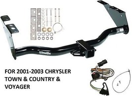 2001-2003 Chrysler Town & Country & Voyager Trailer Hitch W/ Wiring Kit Class 3 - $198.94