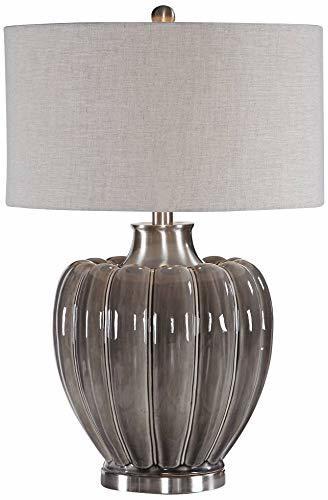 Uttermost Adler Smoky Gray Glaze Ceramic Table Lamp image 2