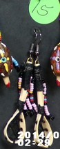 Native American HandMad Dangle Beaded Ballstick Ball Stick Earrings Semi... - $27.99