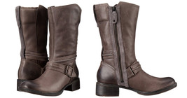 TIMBERLAND Boots Whittemore Side Zip Mid Calf Grey Leather Moto Booties ... - $109.41 CAD