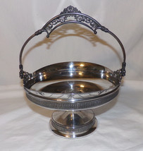 Antique Silver Plate Brides Wedding Basket Quadruple Plate Derby Co. - $74.95