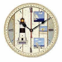 "George Jimmy 12"" Retro Unique Lighthouse Wall Clock Decor Silence Hangin... - $50.06"