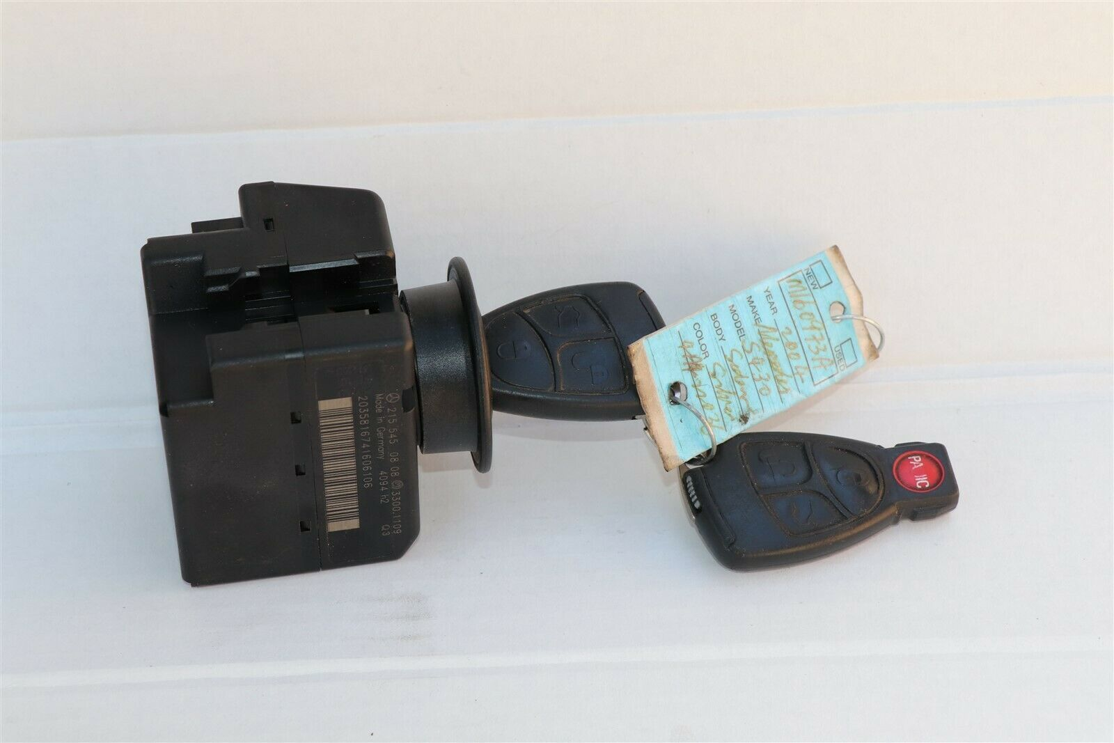 Mercedes Ignition Start Switch Module & Key Fob Keyless Entry Remote 2155450808