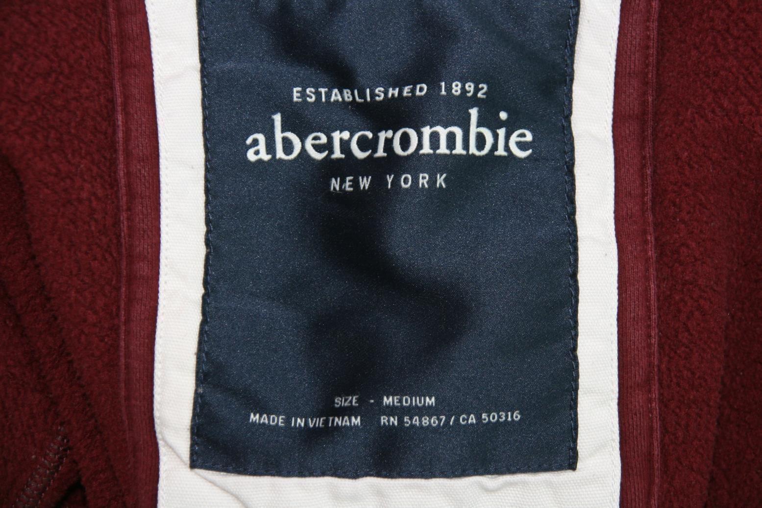 Abercrombie 1892 Full Zip Hoody burgandy