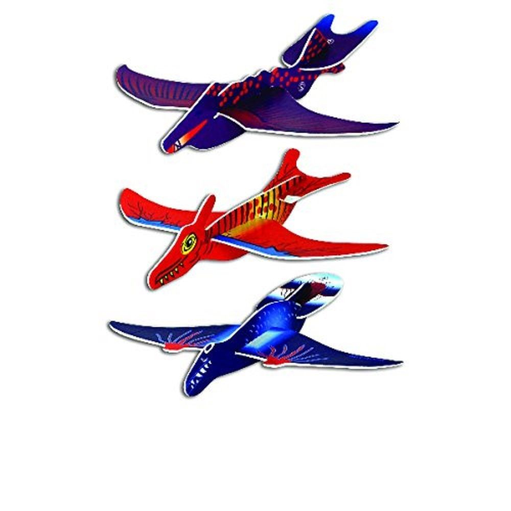 Flying Dinosaur Gliders - 3 Items w/Random Color and Design