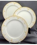 Noritake Fragrance Salad Plates Set of 3 Ivory Yellow White Daisies 8.25... - $22.00