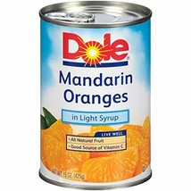 Dole Mandarin Oranges in Light Syrup, 15 Ounce Cans (Pack of 12) - $38.22