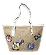 Coach x DISNEY Limited Edition MINNIE MOUSE PATCHES CITY ZIP TOTE KHAKI - $257.35