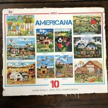Ceaco Jane Wooster AMERICANA 8 Jigsaw Puzzles - no box sealed bags - $14.00