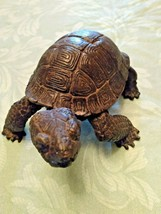MAGNIFICENT EXQUISITELY DETAILED HEAVY BRONZE TURTLE TORTOISE - £96.46 GBP