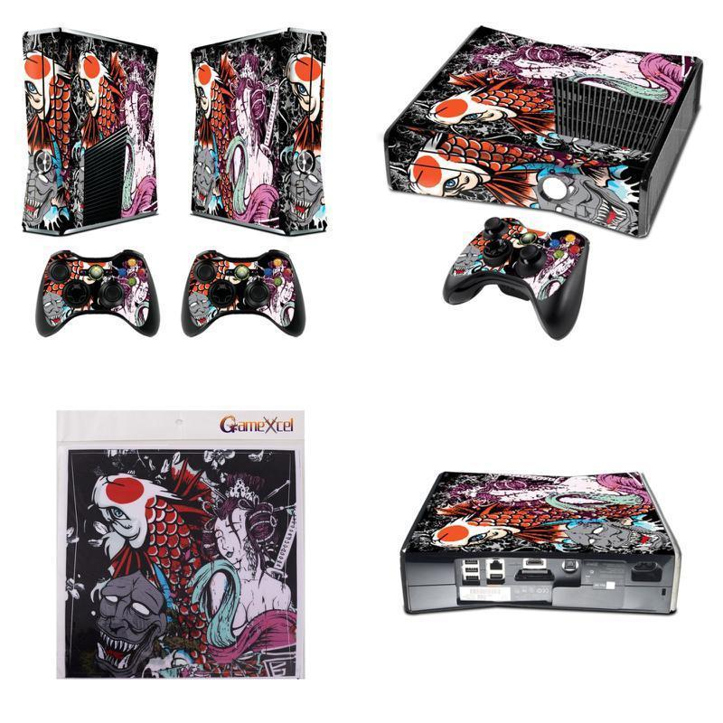 Xbox 360 Slim Sticker Decals Custom Controller Game Console Cover Skin Accessory for sale  USA