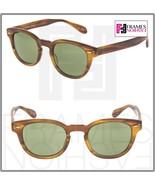 OLIVER PEOPLES Sheldrake OV5036S Light Havana Horn Green Sunglasses 5036... - $274.23