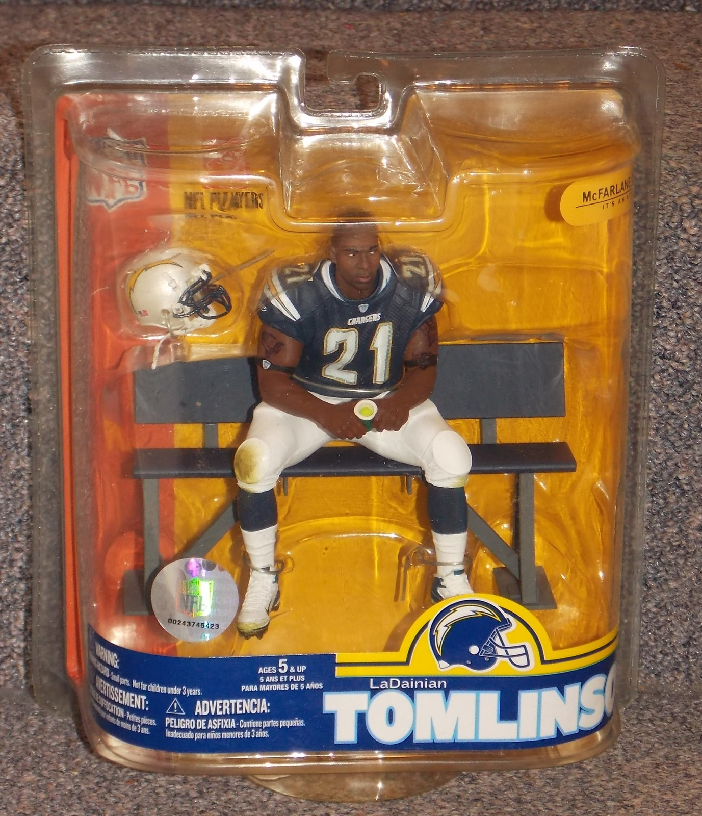 2007 McFarlane  NFL LaDainian Tomlinson San Diego Chargers Figure New In Package