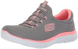Skechers Women's Summits Sneaker (8 Wide|Grey/Pink) - £49.35 GBP