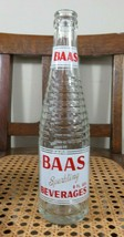 RARE APPLIED COLOR LABEL BAAS ART DECO BROOKLYN NY BOTTLE 1967? - $13.96