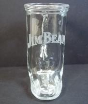 """Jim Beam handled boot shot glass white lettering 3"""" - $8.10"""