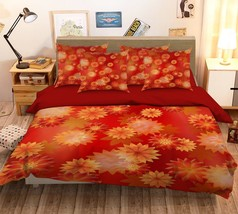 3D Orange Petals 306 Bed Pillowcases Quilt Duvet Single Queen King US Su... - $102.84+