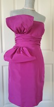 $5K Oscar De La Renta Stunning Runway Fuschia Silk Taffeta Dress Gown Size Us 8 - $695.00