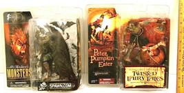 2002 McFarlane's Monsters Dracula + 2005 Peter Pumpkin Eater Twisted Tal... - $37.39