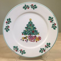 """Gibson Noel Morning Christmas Dinner Plate 10"""" Christmas Tree   - $6.53"""