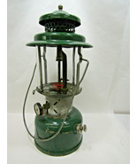 Vintage Green Coleman Gas Camping Lantern The  Model 220E 10-60? - $30.84
