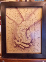 Wedding guest book alternative signing puzzle Hand in Hand The Forever T... - $114.99