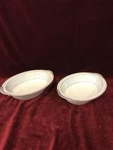Bowls pair NORITAKE vintage Cathay 1959-64 Mid Century Pair oval serving... - $29.29