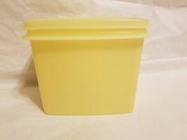 Vintage Tupperware Yellow Storage Container ~ Storage Saver W/ Lid ~ #1243-2 - $12.86