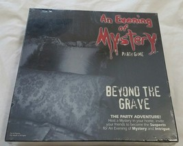 New Sealed AN EVENING of MYSTERY Party Game BEYOND THE GRAVE 8 Adult Pla... - $4.29