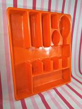 FAB Retro MOD Orange Plastic Silverware or Flatware 7 Section Caddy Bee ... - $16.00