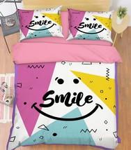 3D Smile Face 39 Bed Pillowcases Quilt Duvet Cover Set Single Queen King Size AU - $90.04+