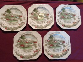 Set of 5 Johnson Brothers THE ROAD HOME Bread P... - $55.00