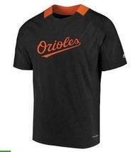 NEW MENS MAJESTIC BALTIMORE ORIOLES MLB BASEBALL WANNA STOP COOL BASE SH... - $29.66