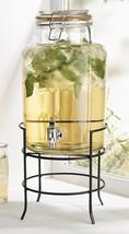 Beverage Drink Dispenser Stand Durable Glass 1.... - $23.36