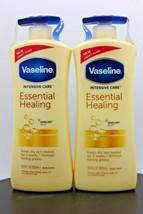 2 Pack Vaseline Intensive Care Essential Healing Moisturizing Body Lotio... - $24.49