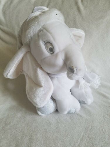 """Disney Store Exclusive Snowflake Pals White Dumbo Plush 12"""" with tags"""